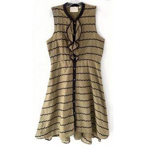 Anthropologie Dresses - ANTHROPOLOGIE POSTMARK BUBBLE RUFFLE GREEN DRESS